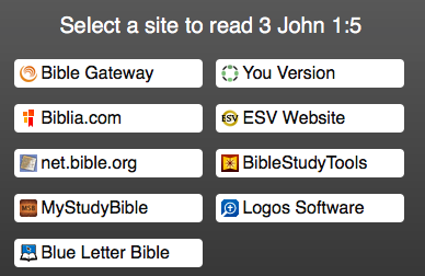 choose your preferred Bible website