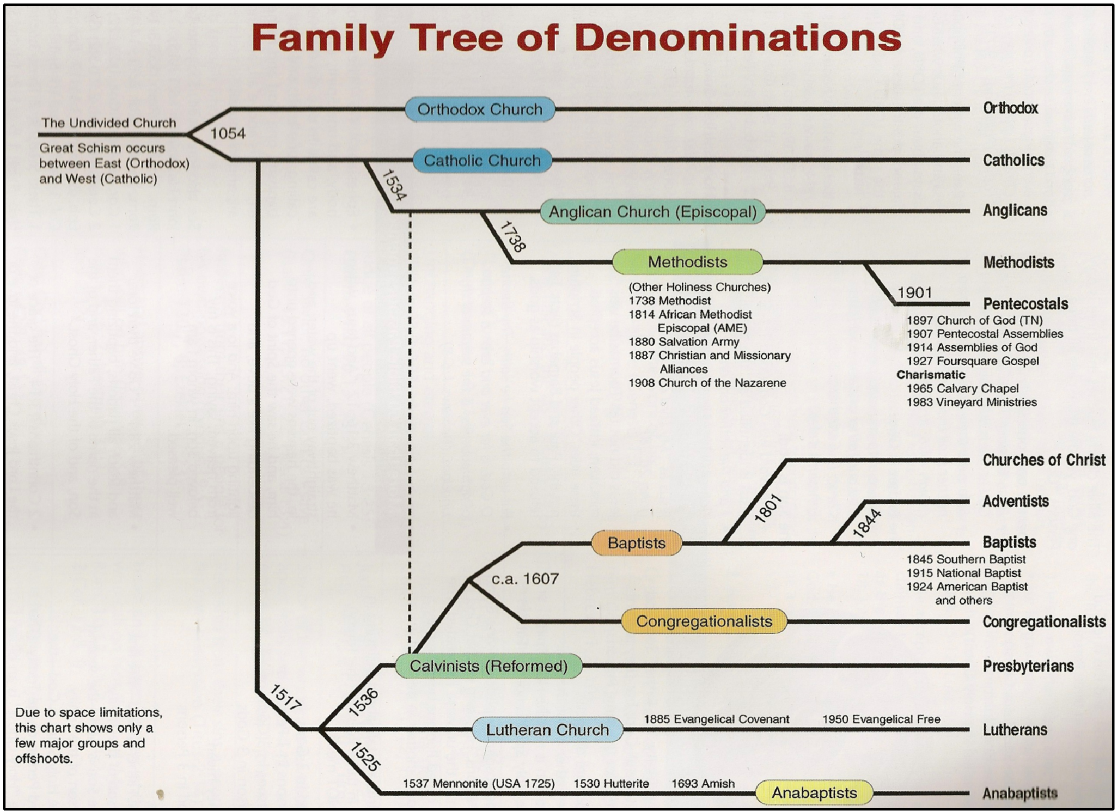 One Bible with Many Churches, Denominations and Sects
